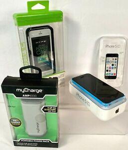 Apple iPhone 5c - 16GB - Blue (Sprint) A1456 (CDMA + GSM) Box & Accessories