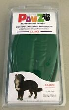 PawZ Rubber DOG BOOTS Reusable DisposableWaterproof 12 Pack X LARGE  - Green NEW