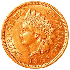 1906 Indian Head Penny, Reddish High End 1c Copper Collectible Cent No Res!