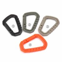 2pcs D-ring Carabiner Clip Hook Molle Webbing Backpack Snap Buckle Lock Keychain