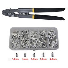 High Strength Fishing Pliers Wire Rope Swager Crimpers Crimp Sleeves Sets