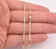 "2mm 10"" Mariner Gucci Link Chain Anklet Ankle Real Solid 10K Yellow Gold 1.60 gr"