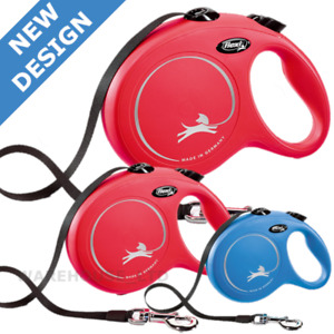 Flexi New Classic Dog Lead 8m Large Tape Retractable Dog Lead New 2020 Model