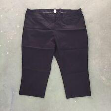 5de2c9b7bcfa9 Lane Bryant Size 28 Black Stretch Hook Waist Pockets Flat Front Capri Dress  Pant
