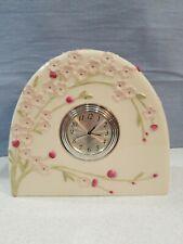 Lenox 782516 Pink Cherry Blossom Mantel Clock Ceramic Desk Shelf
