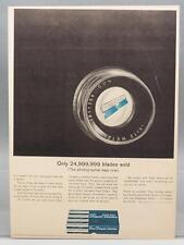 Vintage Magazine Ad Print Design Advertising Shaper Single Edge Razor Leitz Lens