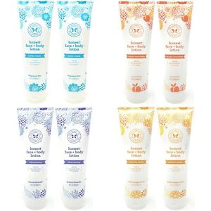 2 x Honest Co Face + Body Lotion Natural Hypoallergenic 8.5 fl oz - Choose Scent