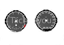 Tachoscheiben für BMW 1er E81 E82 E87 E88 Benziner 300 kmh km/h M1 Carbon Nr 111