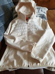 MERRELL select dry cream ivory  fleece lined waterproof hooded jacket small