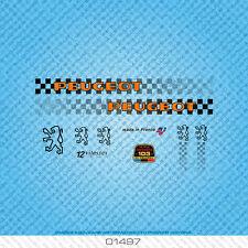 Peugeot Bicycle Decals - Transfers - Stickers - Orange & Black - Set 1497