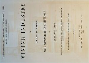 Savage Mining Shaft Landing Title Page Virginia City Comstock Lode Nevada 1870