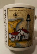 """Great American Lighthouses Donna Elias series """"Whitefish Point"""" Paradise, Mich."""