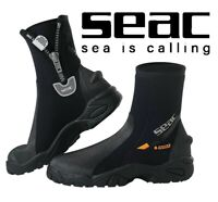SEAC Pro HEAVY DUTY Divers WATERSPORTS Neoprene Ankle Boots with Zip HD SOLE
