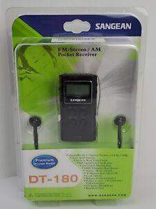 NEW Sealed Sangean Pocket AM/FM Digital  Receiver Radio DT-180 Black