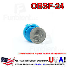 Sanwa OBSF-24 - BLUE Momentary  Push Button JAMMA guitar killswitch 24mm MAME