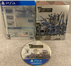Valkyria Chronicles Remastered PlayStation 4 PS4 Steelbook Sega Rated T Teen HTF