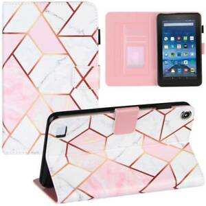 """For Amazon Kindle Fire 7 2019 HD 8 HD 10 10.1"""" PU Leather Smart Case Flip Cover"""