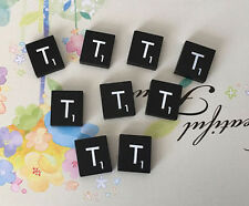10 (TEN) Letter T, Black  Scrabble Tiles Letters, Individual, A to Z in Stock!