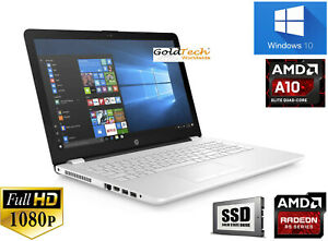 """15.6"""" HP 15 Gaming Laptop AMD A10 up to 3.4GHz 8GB 256GB SSD Radeon R5 Win10"""
