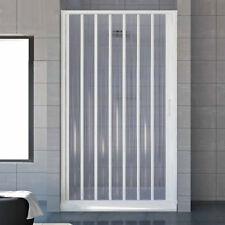 Porta doccia a soffietto per box doccia nicchia 90 cm profilo riducibile fino 80