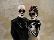 Day of the Dead Skeleton Couple Wedding Cake Topper 6 Inches