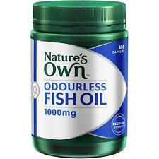 Nature's Own Odourless Fishoil 1000mg - 400 Capsules Rich in DHA
