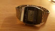 Reloj De Pulsera Vintage años 80 Raro Digital LCD Adec por Citizen Alarma Cronógrafo mod.4928