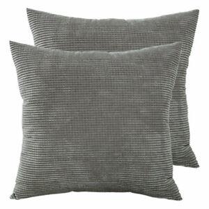 2x Kissenbezug Kissenhülle grau beige rosa blau lila grün Braun 50x50