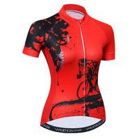 Women's Cycling Jersey Clothing Bicycle Sportswear Short Sleeve Bike Shirt  F36