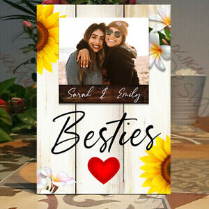 Personalised  Personalised Besties Picture frame, Best Friend Gift, Plaque Gift
