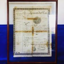 Passeport 1815 Au nom du Roi Louis XVIII Ex-libris Gravure Vieux Documents Rare