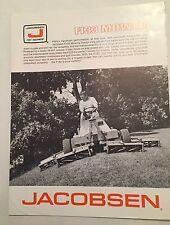 JACOBSEN F133 Ride On Gang Mower / Mowing Tractor Original 1970s Sales Brochure