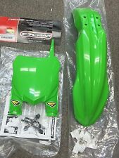 CYCRA GREEN 2015 STYLE FRONT FENDER STADIUM NUMBER PLATE KAWASAKI KX 125 250