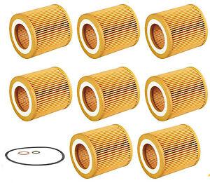 8 BMW Oil Filter 3 Series 525i,525xi,528i,528Xi,535i, X3, X5,Z4, OE# 11427541827