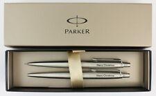 Parker Jotter Ballpoint Pen & Pencil SET Personalised Gift ENGRAVED