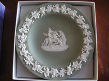 """Wedgewood 4 1/2"""" Plate In A Rare Green Color In The Orig. Box"""