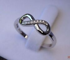 Solid 925 Sterling Silver Infinity Knot Eternity Love Promise Ring - Size 7