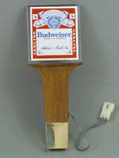 New in bag 1980s Budweiser Beer Electric Lighted 8 inch Tap Handle Tavern Trove