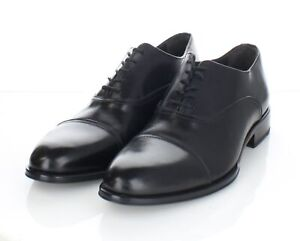 33-28 Men's Sz 9 M To Boot New York Leather Cap Toe Oxford In Black