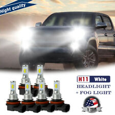 6x White H11 H8 H9 210W LED Headlight Fog Light Bulbs For Toyota Tacoma 16-20