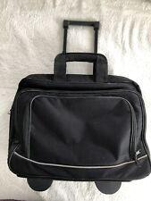 TravelWare Rolling Luggage/Computer/Briefcase Bag. Black.