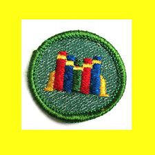 READER 1950s Girl Scout Badge Rare Merrow Edge w/Light Border Books Patch Cmbine
