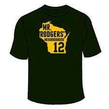 Mr Rodgers Neighborhood T-Shirt. Packers Aaron Funny Sports Jersey TShirt Green