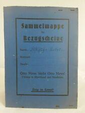 Otto Mess Sammelmappe für Bezugsscheine. ca.1920er Jahre ? // 1