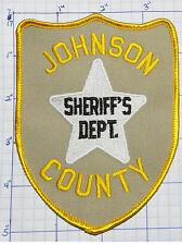 NEBRASKA, JOHNSON COUNTY SHERIFF'S DEPT TAN PATCH
