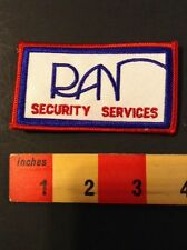 PATCH SECURITY GUARD - RAN SECURITY SERVICES. 60Z8