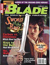 Blade Magazine February 2002 Sword Of The Ring EX No ML 101316jhe