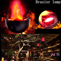 Flameless Dynamic Flame Effect Lamp Fire Pot Hanging Lamp Basin Bar Party OG