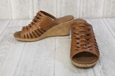 Rockport Briah Fisherman Wedge Sandals - Women's Size 5, Sun Tan