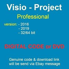 CODE [KEY] ACTIVE ON VISIO/PROJECT 2019 2016 PROFESSIONAL; USB; DVD
